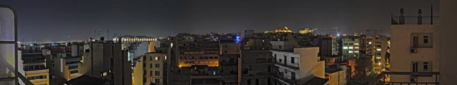 Night panorama from the balcony