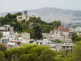View from Acropolis (the Observatory and Agia Marina)