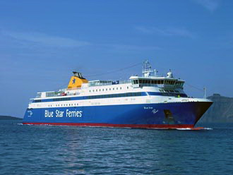 One of our ships: Blue Star Paros