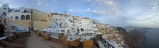 Panorama from the terrace of our hotel