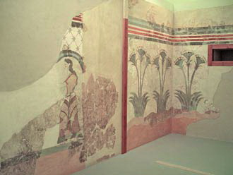 Fragment of wall painting 17 century B.C
