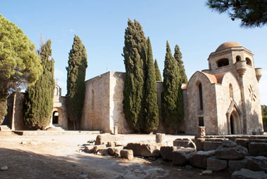 The monastery with the ancient ruins