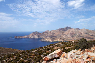 Tilos, view to the north